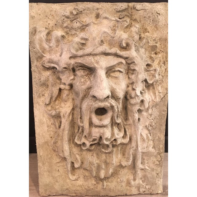 Contemporary North Wind and Bacchus Cement Garden Plaques For Sale - Image 3 of 7