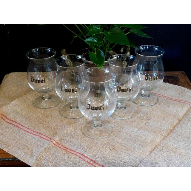 Duvel Snifter Beer Glasses - Set of 5 For Sale - Image 4 of 5