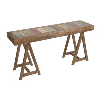 Reclaimed Peroba Rosa Wood Rustic Modern Console Table