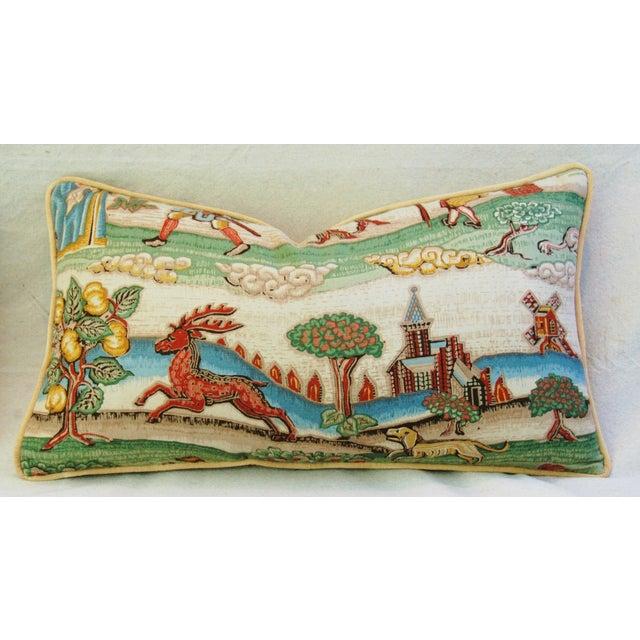 Designer Brunschwig & Fils Medieval Pillows - Pair - Image 8 of 8