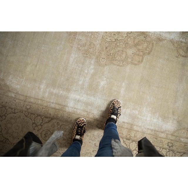 "Islamic Vintage Distressed Tabriz Carpet - 9' X 12'9"" For Sale - Image 3 of 13"