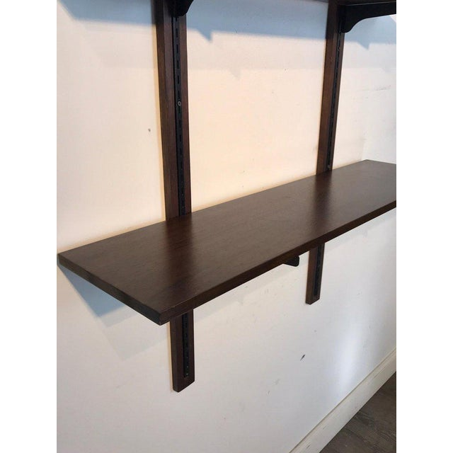 Brown Danish Modern Rosewood Adjustable Shelves For Sale - Image 8 of 12