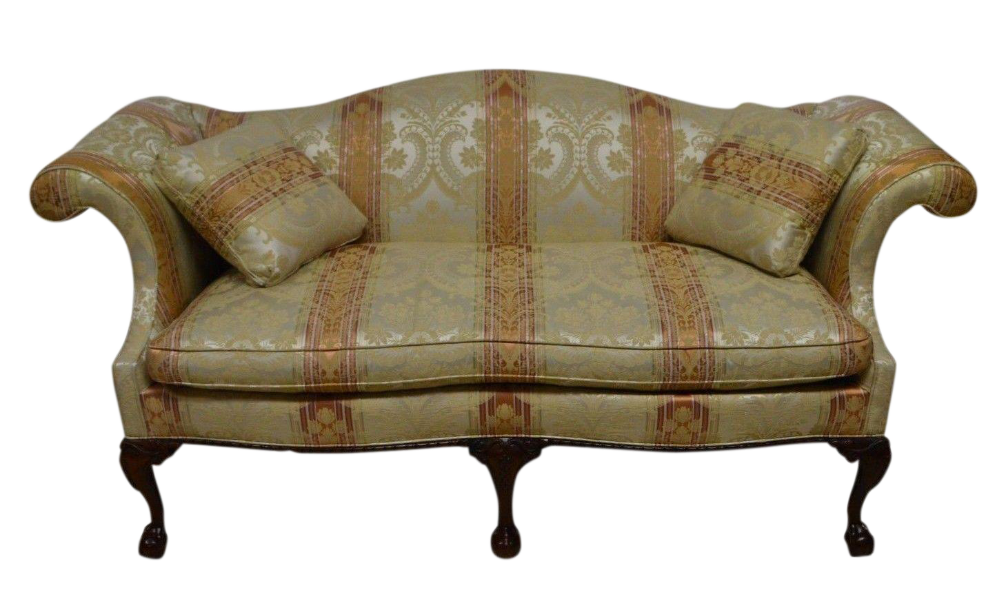 Captivating Southwood Chippendale Mahogany Sofa