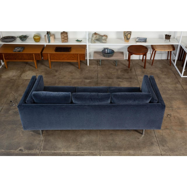 Milo Baughman Velvet Sofa for Thayer Coggin For Sale In Los Angeles - Image 6 of 12