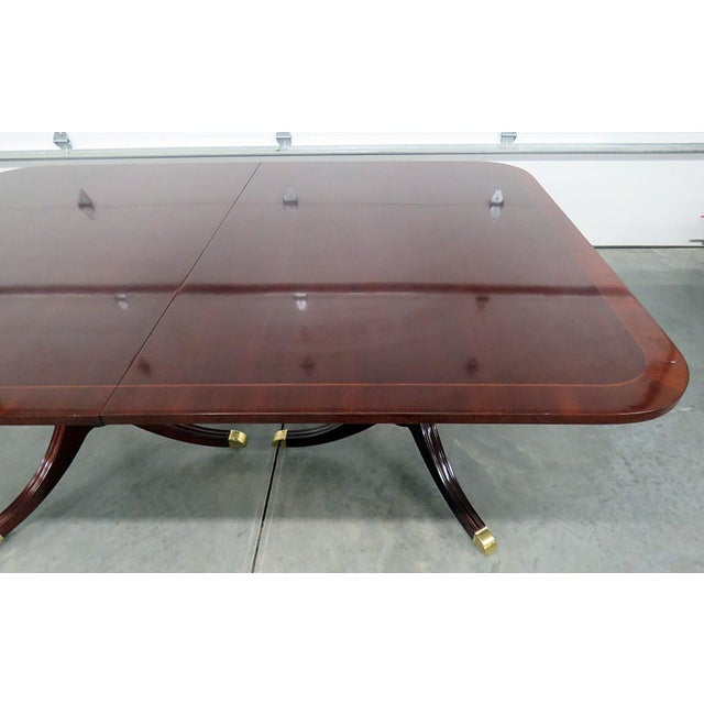 Mid 20th Century Kindel Georgian Style Mahogany Dining Room Table For Sale - Image 5 of 13