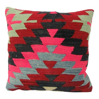 Turkish Colorful Kilim Pillow Cover For Sale