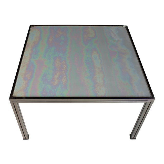 Chrome Coffee Table With Opal Slag Glass - Image 1 of 6