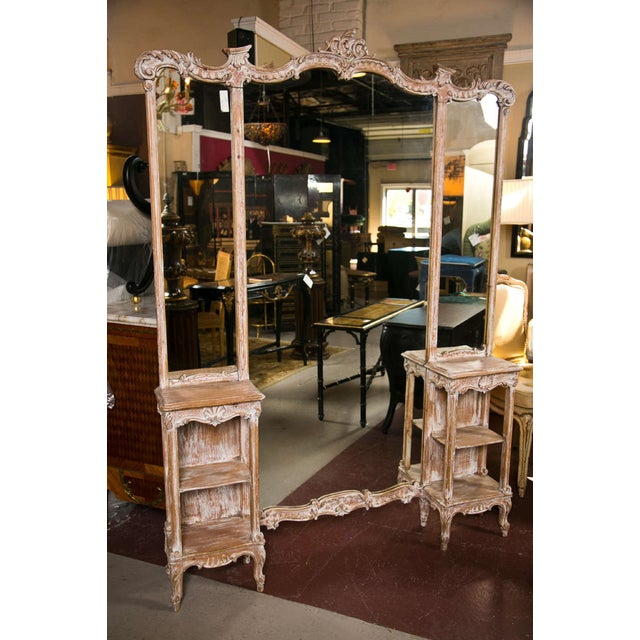 French 3 Panel Dressing Mirror For Image 10 Of