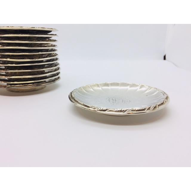 Late 19th Century Gorham Sterling Butter Pats Coasters- Set of 12 For Sale - Image 10 of 11
