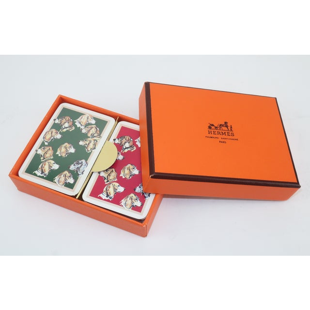Hermès Mini Playing Cards With Hound Dog Motif For Sale - Image 9 of 9