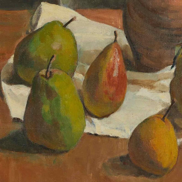 Edwardian Early 20th Century Still Life Oil Painting on Canvas by Artist B. Buchet For Sale - Image 3 of 5