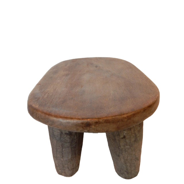 African Senufo Low Milk Stool I Coast For Sale In New York - Image 6 of 6