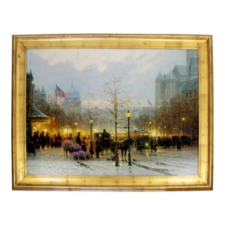 Contemporary Framed G Harvey Signed Giclee 251/395 Inauguration Eve For Sale