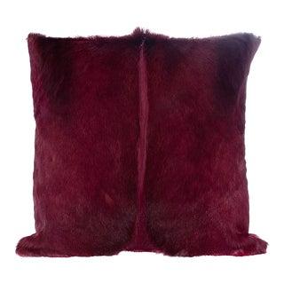 Modern Springbok Pillow in Magenta 17x17 For Sale