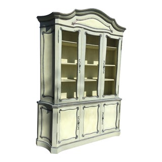 Mid 20th Century Hand Painted Venetian Display Cabinet For Sale