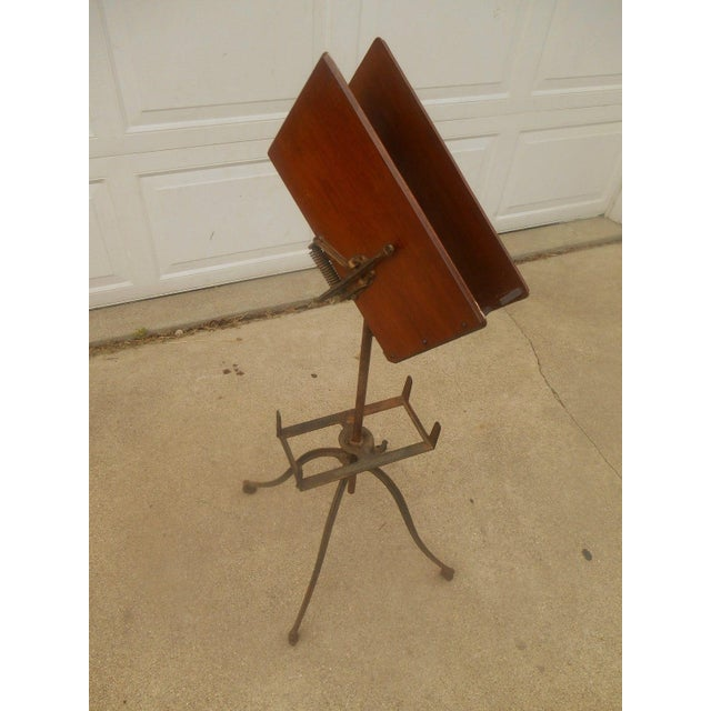 Antique Victorian Wrought Iron Book Stand - Image 5 of 7