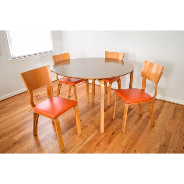 Mid-Century Thonet Bentwood Table & Chairs - Image 6 of 10