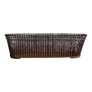 Perforated Iron Jardiniere Basket For Sale