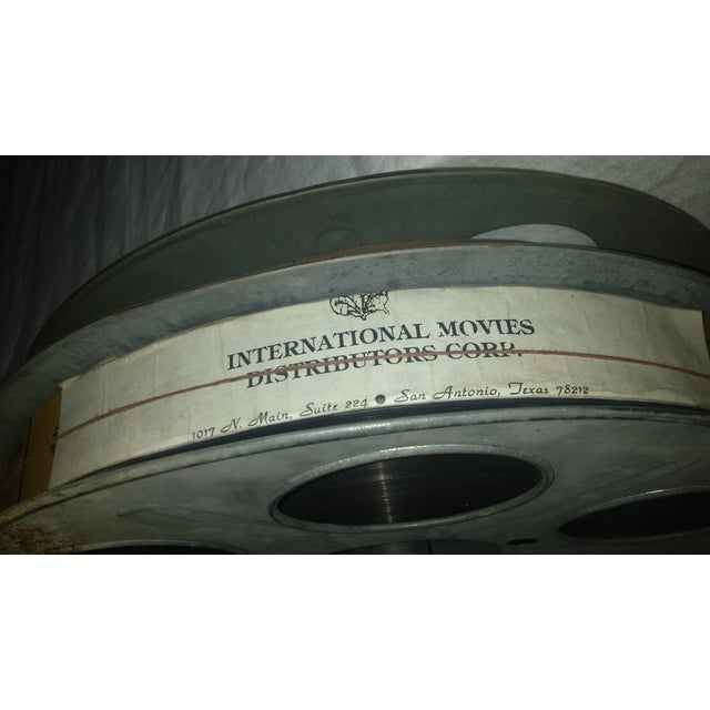 Vintage Movie Reel Canister 35mm with Three Reels For Sale - Image 10 of 10