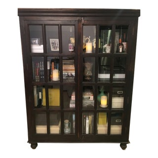 Crate and Barrel Faulkner Library Cabinet For Sale