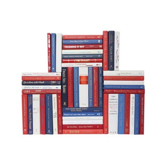 Modern Americana Book Wall : Set of Fifty Decorative Books