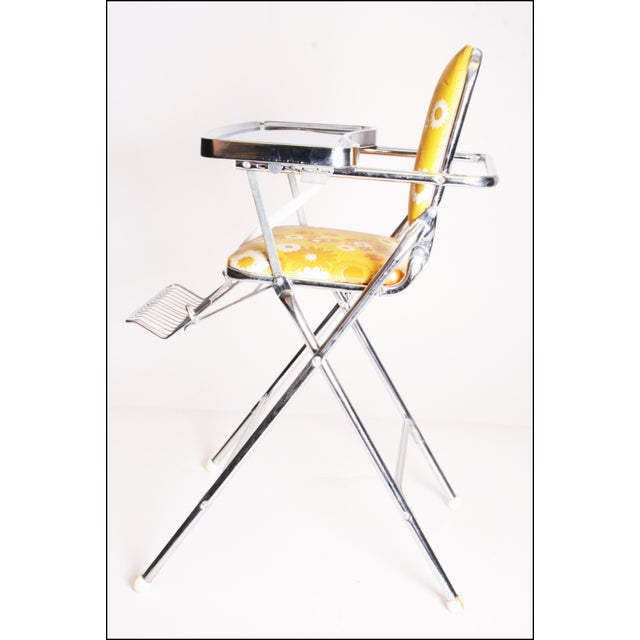 Mid-Century Modern Mid Century Modern 70s Chrome High Chair by Taylor Tot For Sale - Image 3 of 11