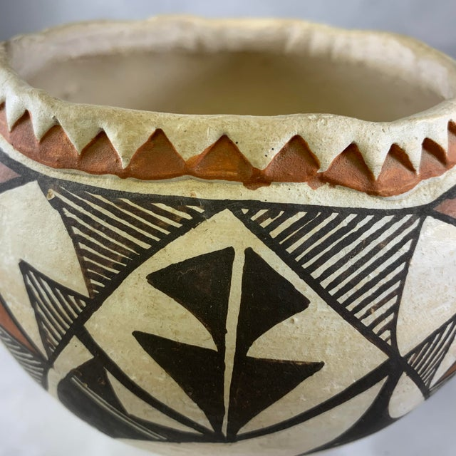 Southwestern Acoma Olla Polychrome Pottery For Sale - Image 10 of 11