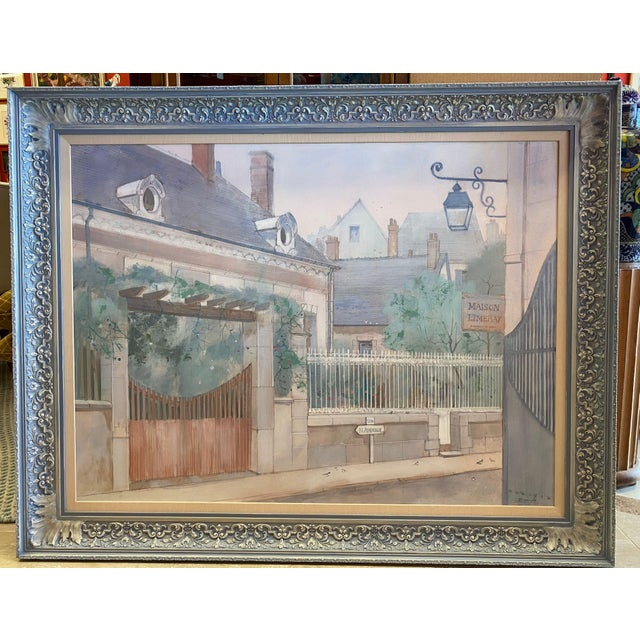 """1970s """"Road to Amboise"""" Wm. Benecke Orignal Oil Painting For Sale - Image 13 of 13"""