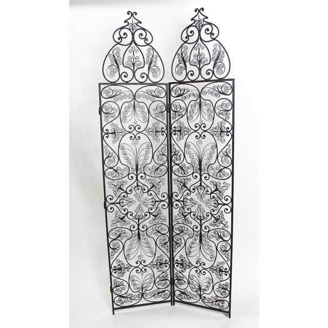 Moroccan Wrought Iron Room Screen - Image 6 of 6
