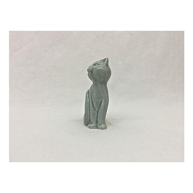 Ironstone Celadon Cats Napkin Rings - Set of 4 - Image 9 of 9