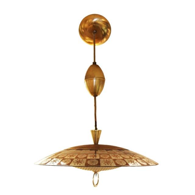 1960s Mid Century Modern Thomas Light Brass/Glass Atomic Pendant ...