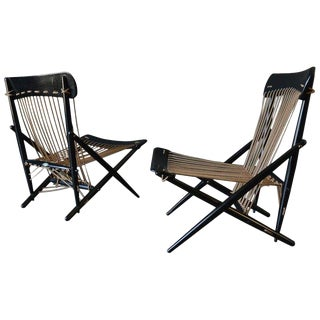 1955 Vintage Maruni Rope Chairs - A Pair For Sale