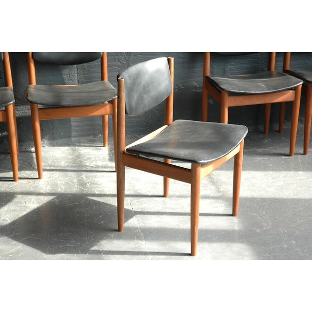 Frank & Son Finn Juhl Model 197 Dining Chairs - Set of 6 For Sale - Image 4 of 7