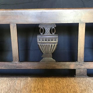 19th Century Vintage Neoclassical French Carved Walnut Bench Preview