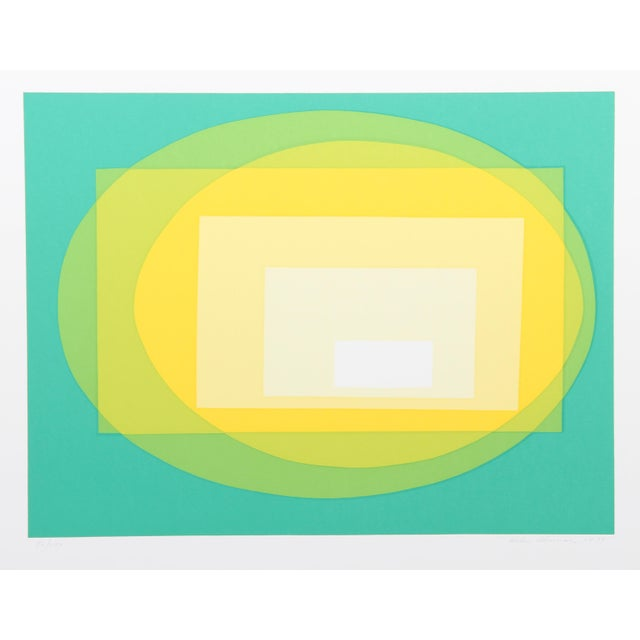 Op Art Transformation, Op Art Serigraph by Helen Thomas For Sale - Image 3 of 3