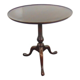 Stickley Queen Anne Solid Mahogany Tea Table For Sale