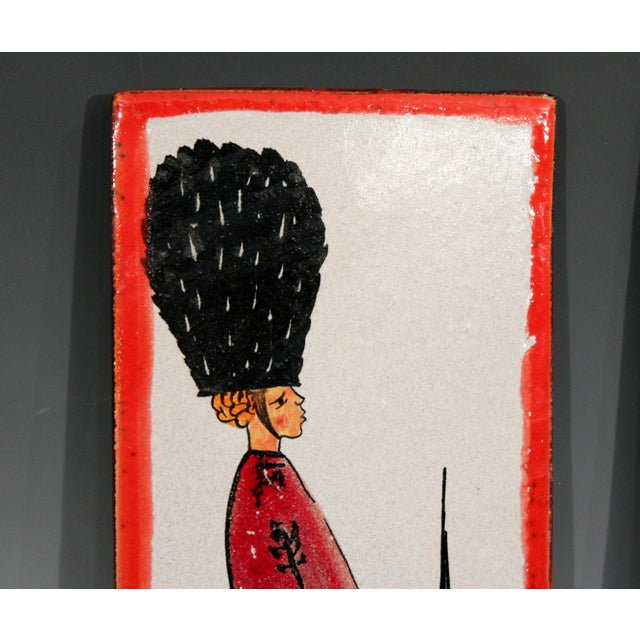 1960s 1960s Pottery Italian Petucco Tiles Beefeater Raymor Hanging Plaques Ceramic - a Pair For Sale - Image 5 of 11