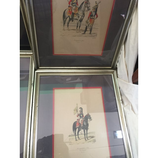 6 Matching Antique French Military Prints Hand Colored Eugene Titeux - Image 10 of 11