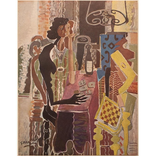 "A gorgeous large vintage original period lithograph after painting ""La Patience""(The Patience, 1942) by a major 20th-..."