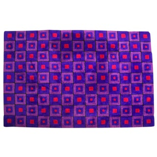 "Verner Panton Op-Art Rug-6'x9"" For Sale"