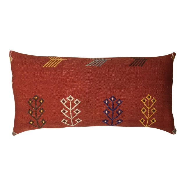 Moroccan Cactus Silk Pillow - Image 1 of 10