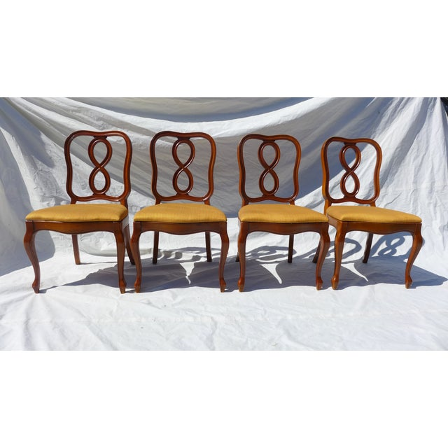 Astonishing French Style Ribbon Back Dining Chairs Set Of 4 Short Links Chair Design For Home Short Linksinfo