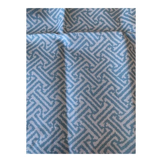 Quadrille Java Java Turquoise Remnant Fabric For Sale