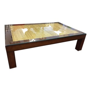 Ralph Lauren Glass Top Coffee Table For Sale