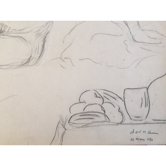Vintage Drawing Seated Nude 1930 - Image 3 of 4