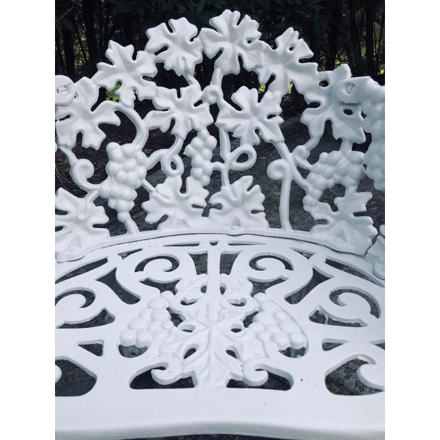 1920s Antique Victorian Cast Iron Garden Bench & Chair For Sale - Image 5 of 12