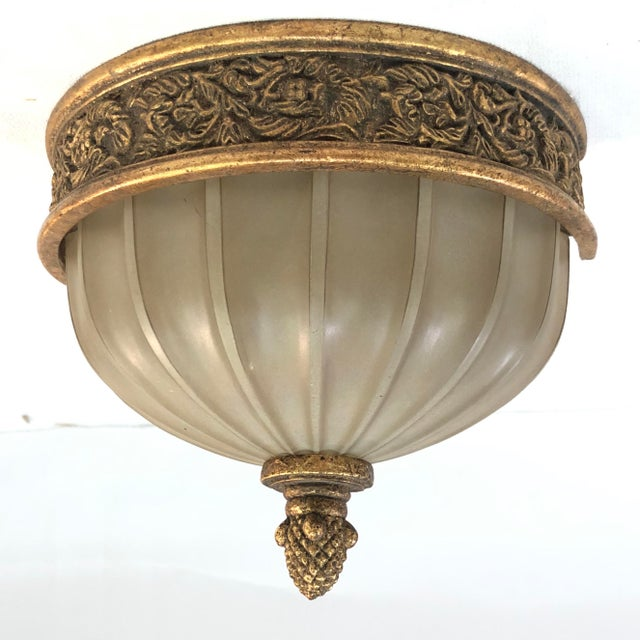 Murray Feiss Baroque Brulee Gold Wall Sconce For Sale - Image 12 of 12