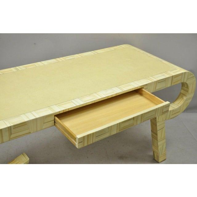 Allesandro for Baker Furniture Allesandro Baker Karl Springer Style Cream Console Table For Sale - Image 4 of 13