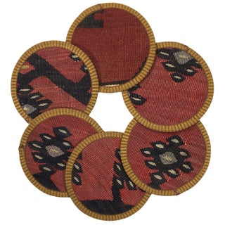 Kilim Coasters Set of 6 | Çuhacıhanı For Sale