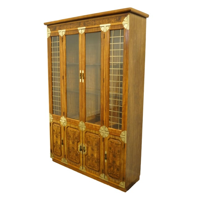 """Bernhardt Furniture Asian Chinoiserie style 55"""" illuminated display china cabinet. We specialize in high end used..."""